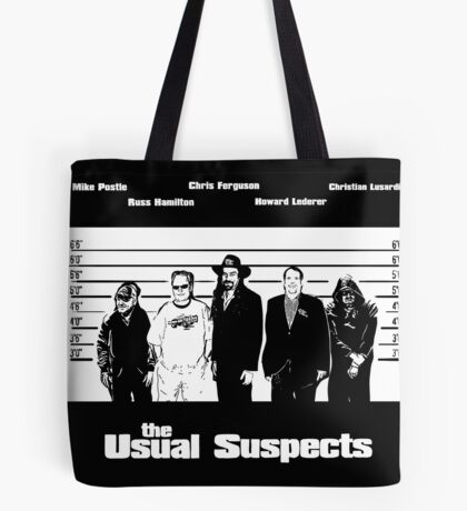 The Usual Poker Suspects Tote Bag