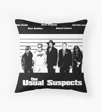 The Usual Poker Suspects Throw Pillow