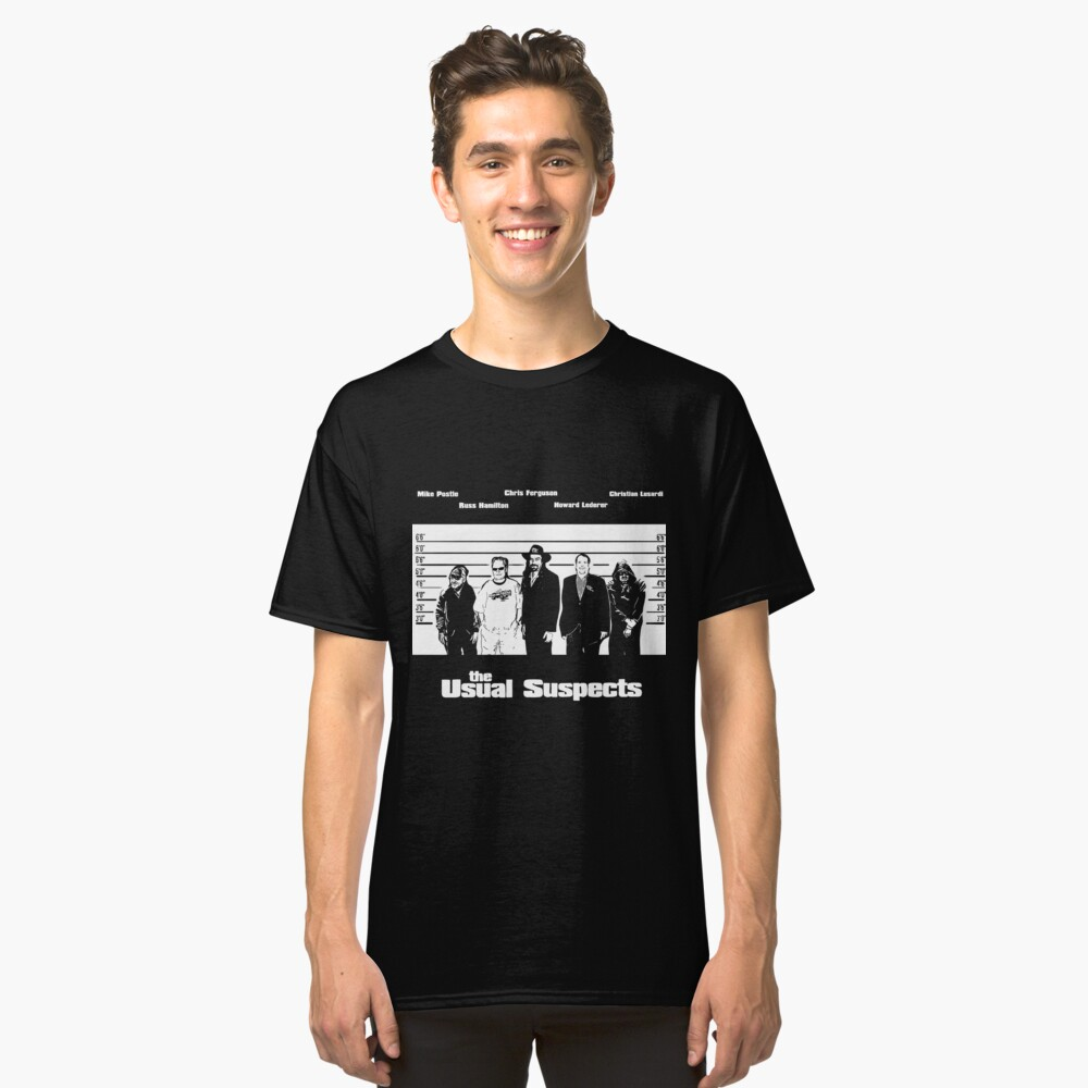 The Usual Poker Suspects Classic T-Shirt
