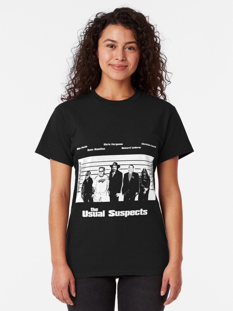 Alternate view of The Usual Poker Suspects Classic T-Shirt
