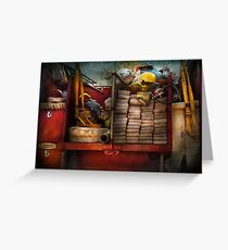 Fireman - Fire equipment  Greeting Card