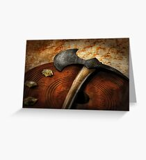 Fireman - The fire axe  Greeting Card