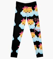 Sweet Dreams Emoji JoyPixels Good Night My Love Leggings