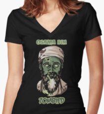 Osama Bin Zombied Women's Fitted V-Neck T-Shirt