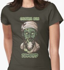 Osama Bin Zombied Womens Fitted T-Shirt
