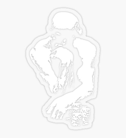 The Thinking Man Poker Transparent Sticker