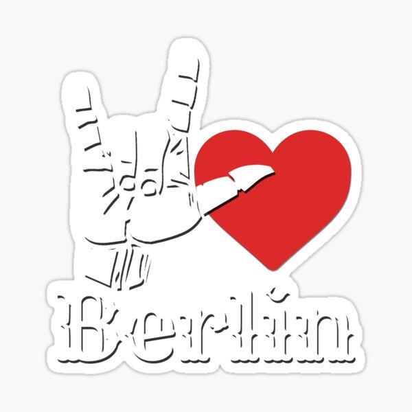Ich liebe Berlin, Liebeszeichengeschenk Sticker