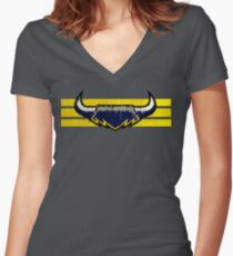 North Queensland Cowboy Graffiti Women's Fitted V-Neck T-Shirt