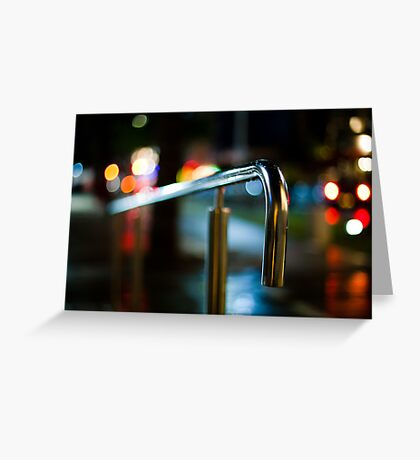 handrail at night Greeting Card