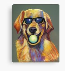 Golden Retriever with Tennis Ball Canvas Print