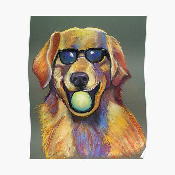 Golden Retriever with Tennis Ball Poster