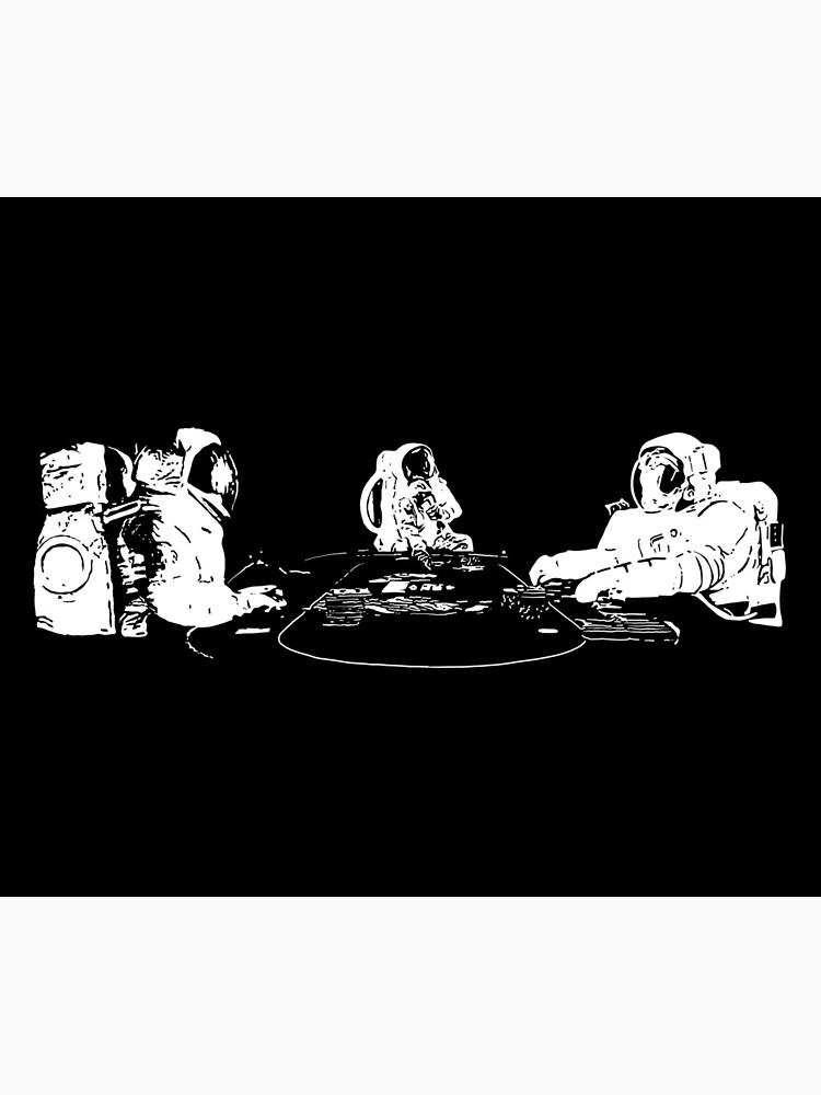 Poker Playing Astronauts by fullrangepoker