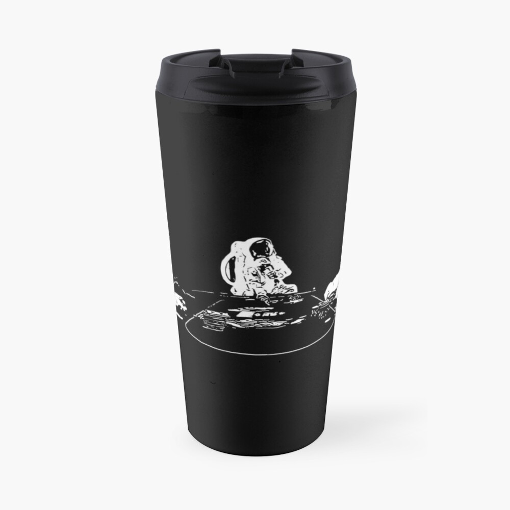Poker Playing Astronauts Travel Mug