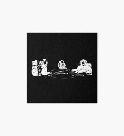 Poker Playing Astronauts Art Board Print