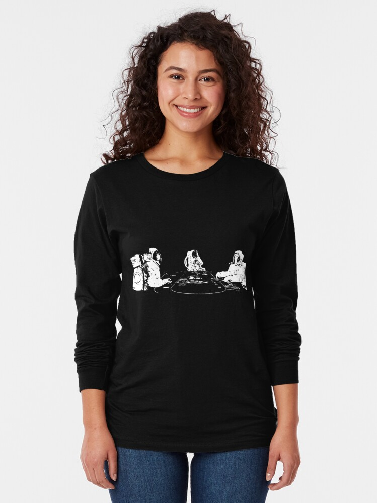 Alternate view of Poker Playing Astronauts Long Sleeve T-Shirt