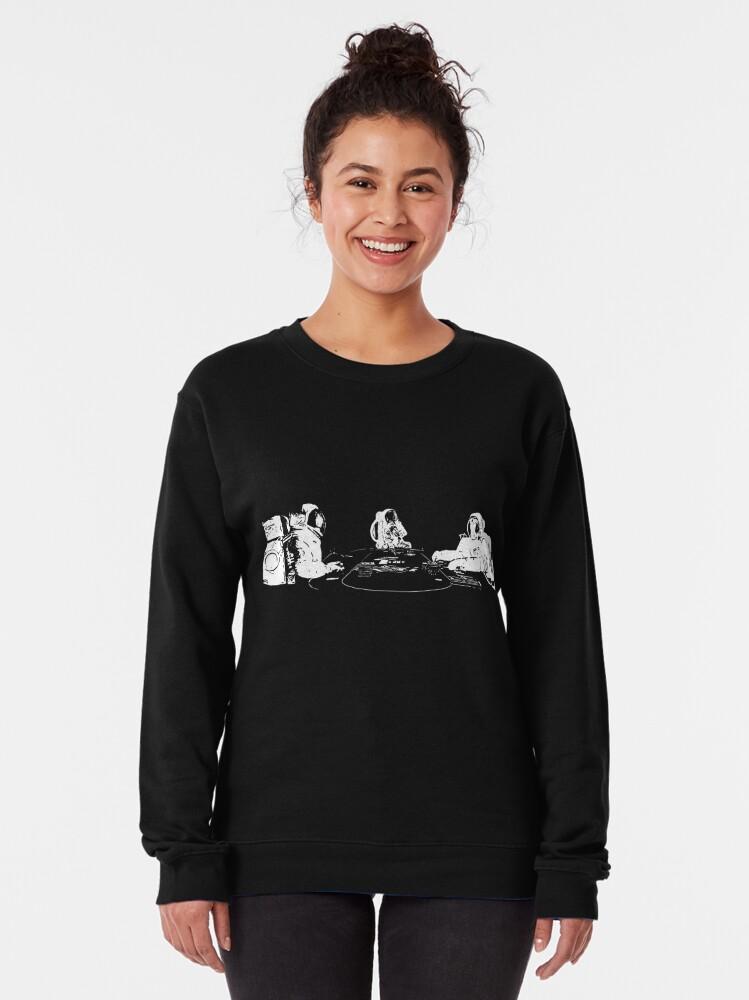 Alternate view of Poker Playing Astronauts Pullover Sweatshirt