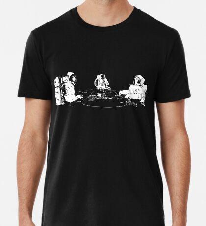 Poker Playing Astronauts Premium T-Shirt