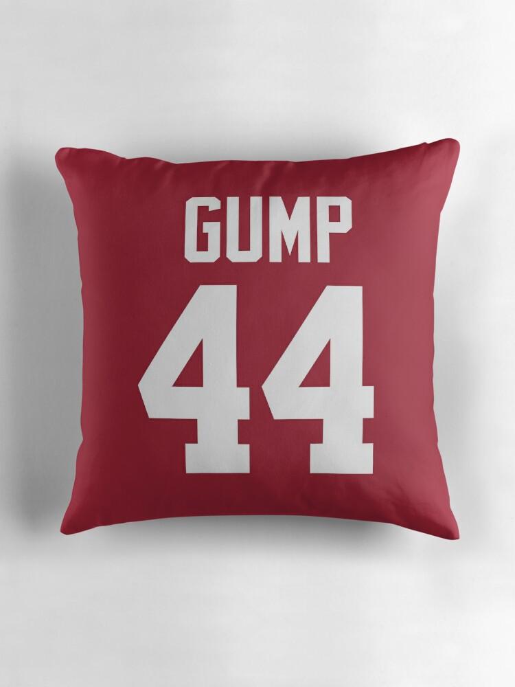 """Forrest Gump Alabama Jersey Shirt"""" Throw Pillows by fandemonium"""