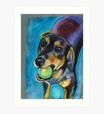 Heinz 57 Black and Tan Dog Art Print