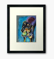 Heinz 57 Black and Tan Dog Framed Print