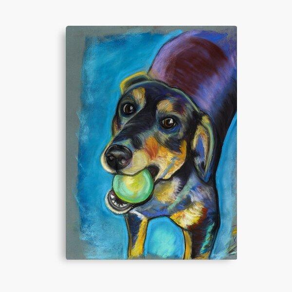Heinz 57 Black and Tan Dog Canvas Print