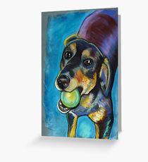Heinz 57 Black and Tan Dog Greeting Card
