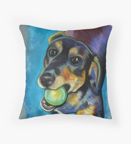 Heinz 57 Black and Tan Dog Throw Pillow