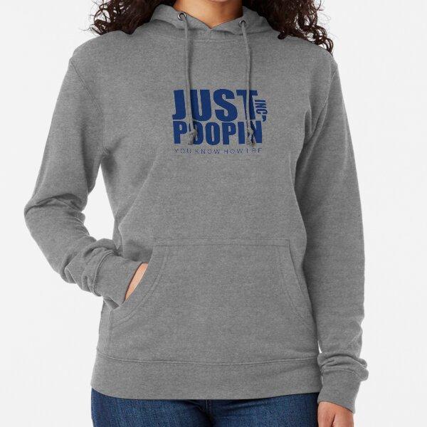 The Office Just Poopin' Dunder Mifflin Logo Lightweight Hoodie