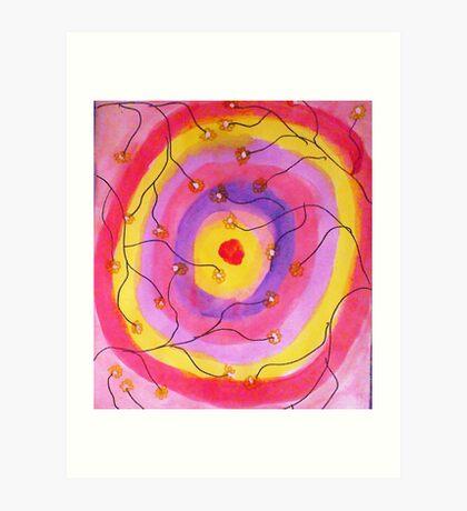 Target practice? watercolor Art Print