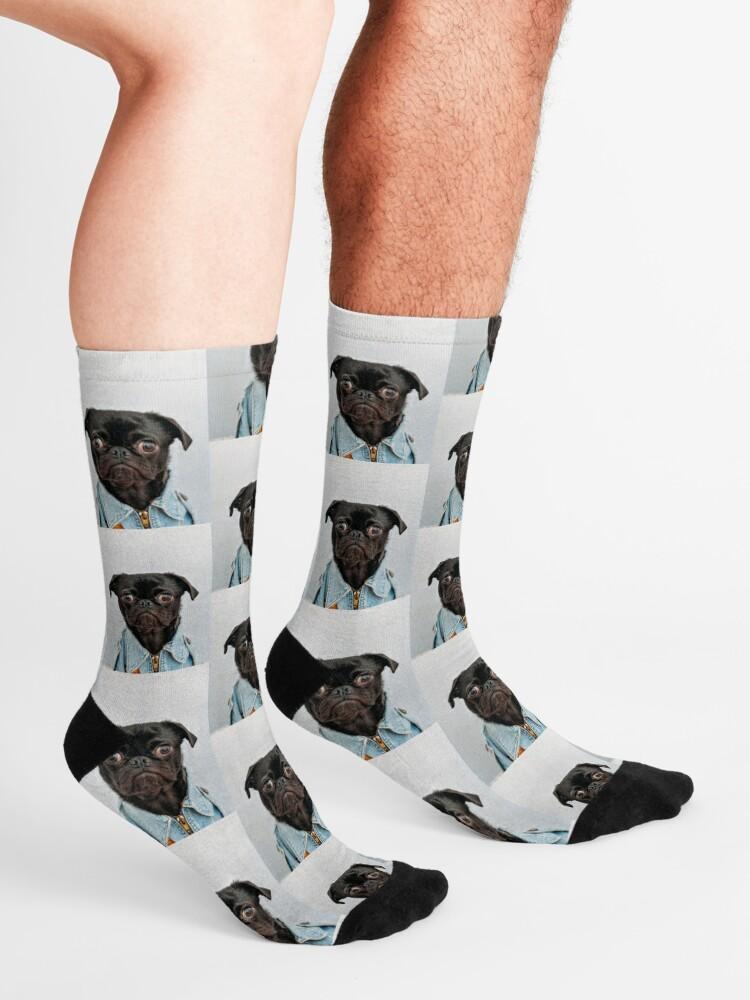 Mens Pug Life Socks Skirt Crew Compression Socks