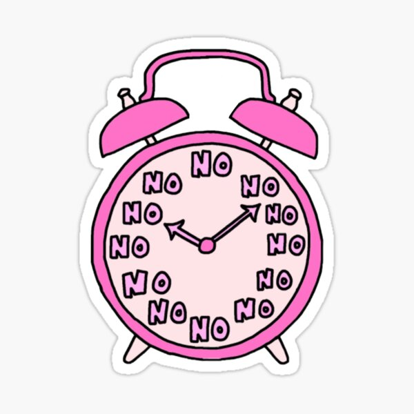 No Alarm Clock Sticker