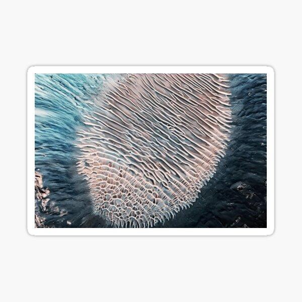 Aeolian Crater Deposits Vallis Marineris Mars Sticker