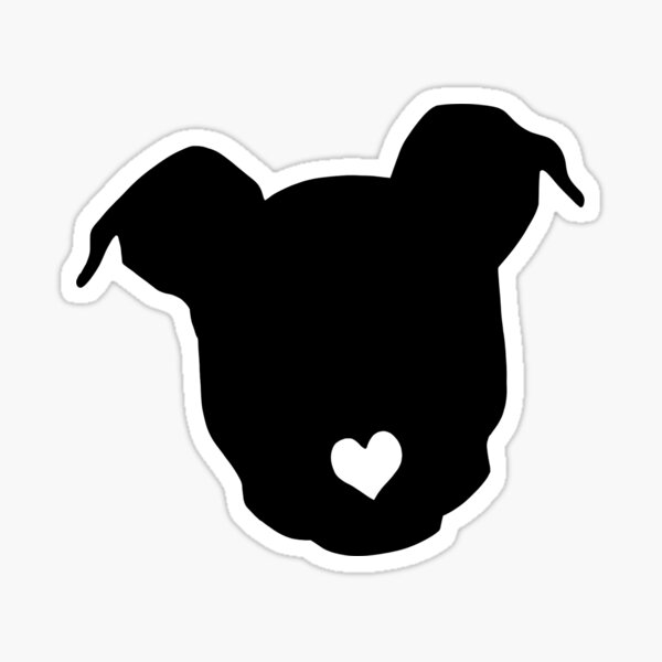 Pitbull Dog Silhouette  Sticker