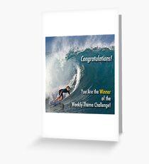 Winner Weekly Theme Challenge banner Greeting Card