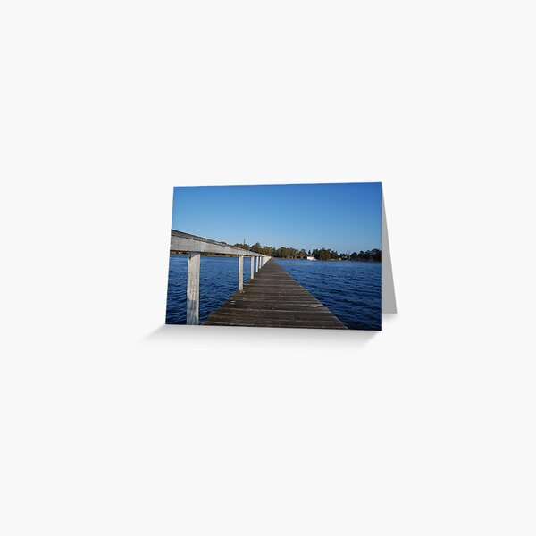 Out On the Water - Long Jetty Greeting Card