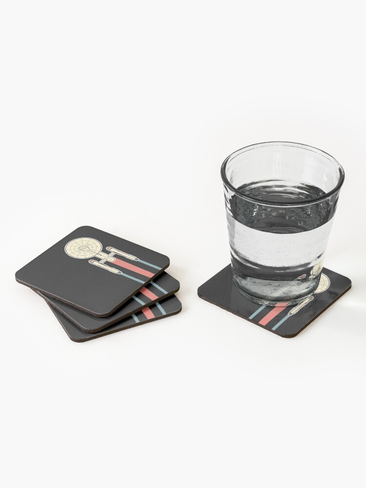 Alternate view of USS Enterprise Star Trek Coasters (Set of 4)