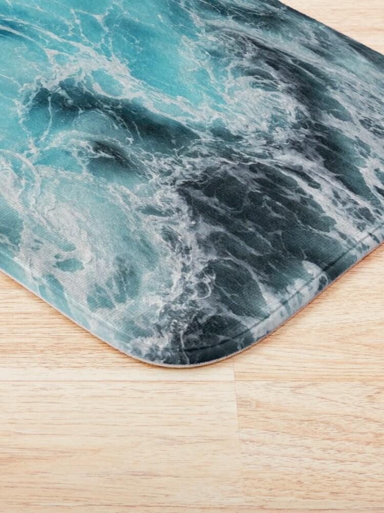Alternate view of mesmerizing blue ocean waves Bath Mat
