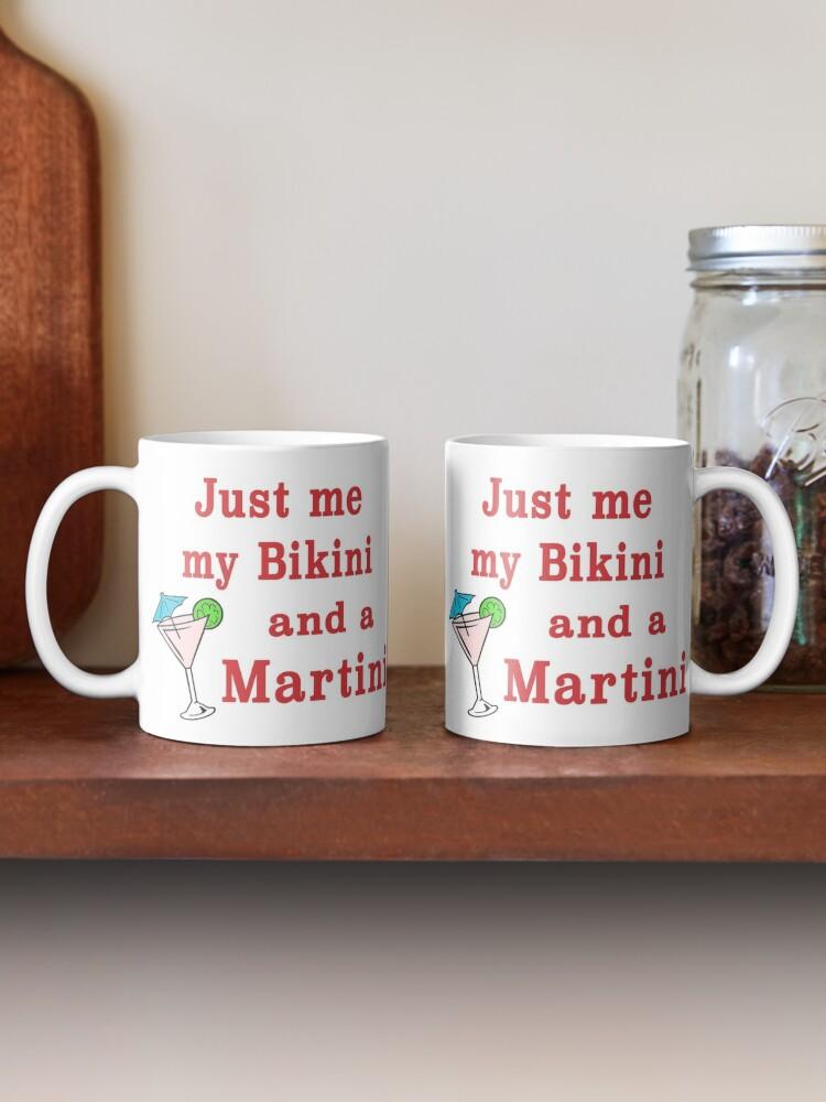Alternate view of Bikinis and Martinis sexy alcohol drinking gift. Mug