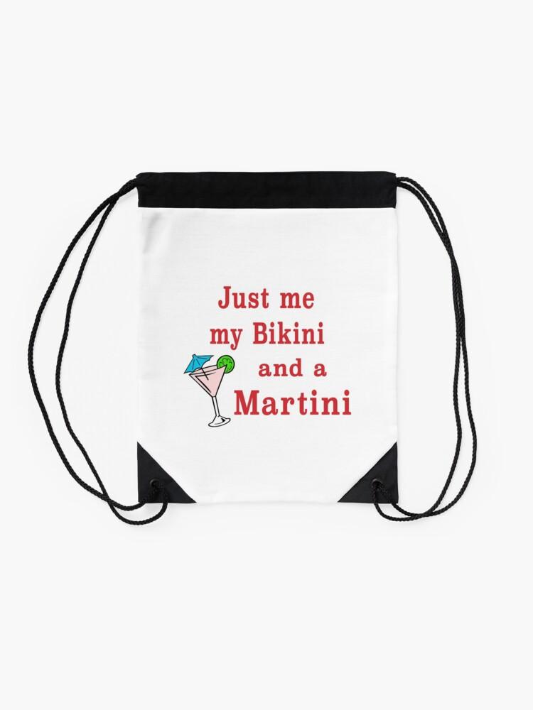 Alternate view of Bikini Martini beachwear swimsuit cosmopolitan. Drawstring Bag