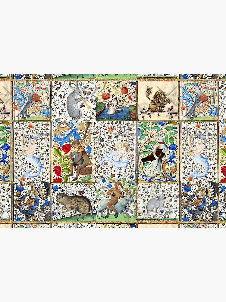 WEIRD MEDIEVAL BESTIARY PLAYING MUSICAL INSTRUMENTS AMONG FLOWERS AND FRUITS by BulganLumini