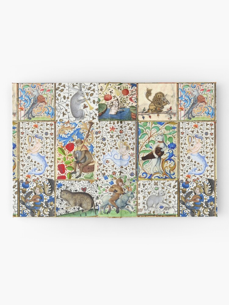 Alternate view of WEIRD MEDIEVAL BESTIARY PLAYING MUSICAL INSTRUMENTS AMONG FLOWERS AND FRUITS Hardcover Journal