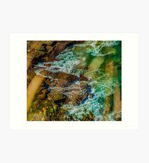 Rocks & Water Art Print
