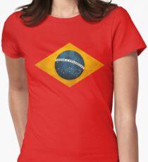 Brazil flag bresil brasil Womens Fitted T-Shirt