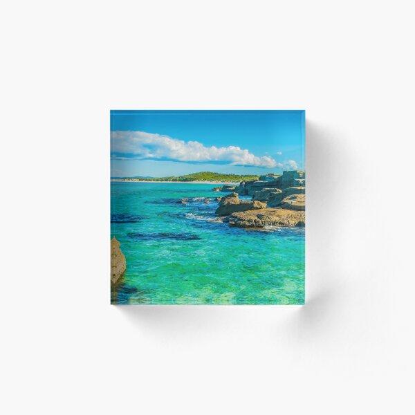 The colour blue & green Acrylic Block