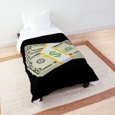 United States Dollars Emoji JoyPixels Cash Money Comforter