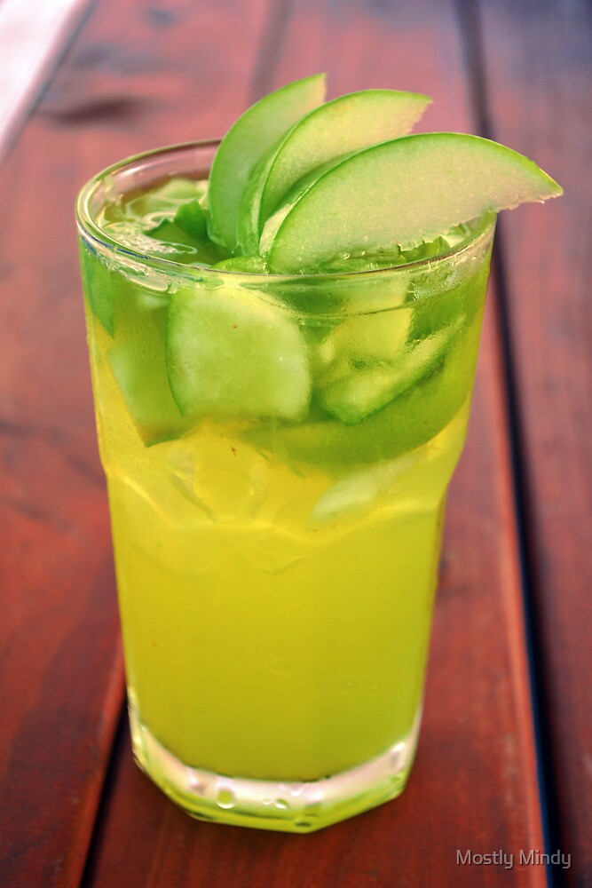 Green apple lime cocktail by mindy nguyen redbubble for Green apple mixed drinks
