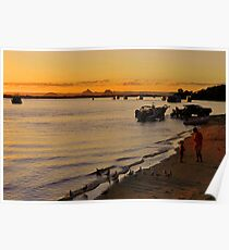 Bribie Island & The Glasshouse Mountains. Queensland, Australia. (2) Poster