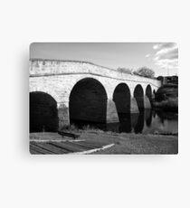Oldest bridge in Australia-built 1823 - Tasmania  -  B&W Canvas Print
