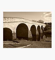 Oldest bridge in Australia-built 1823 - Tasmania  -  sepia Photographic Print