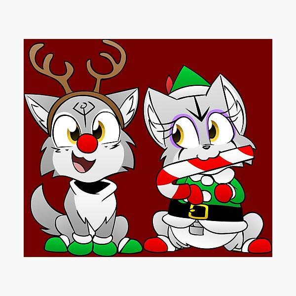 Nuka and Puka Christmas Outifits Photographic Print